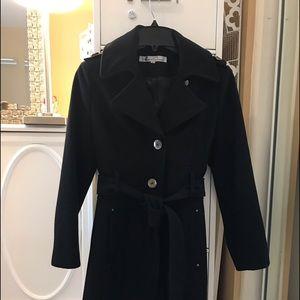 Kenneth Cole black wool coat